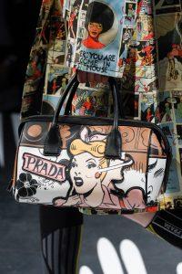 Prada Black Multicolor Printed Duffle Bag - Spring 2018