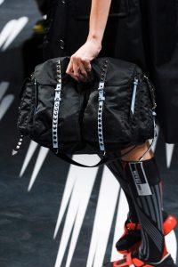 Prada Black Nylon Studded Messenger Bag - Spring 2018