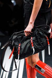 Prada Black/Red Nylon Messenger Bag - Spring 2018