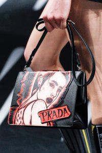 Prada Black/Red Printed Light Frame Shoulder Bag 2 - Spring 2018