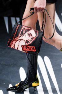 Prada Black/Red Printed Light Frame Shoulder Bag - Spring 2018