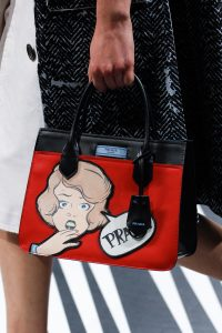 Prada Black/Red Printed Top Handle Bag - Spring 2018