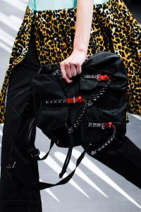 b6fefaa42204 Prada Black Red Studded Nylon Backpack Bag - Spring 2018