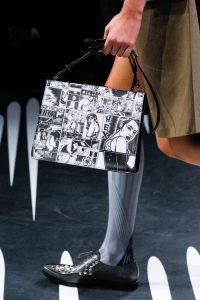Prada Black/White Printed Light Frame Shoulder Bag - Spring 2018