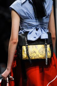 Prada Black/Yellow Nylon/Fabric Belt Bag - Spring 2018