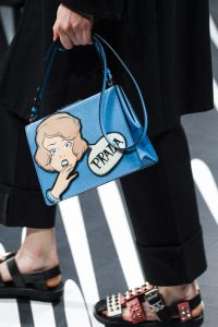 Prada Blue Printed Light Frame Shoulder Bag - Spring 2018