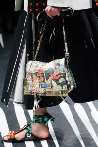 Prada Multicolor Comic Printed Etiquette Shoulder Bag - Spring 2018