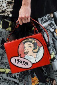 Prada Red Printed Light Frame Shoulder Bag - Spring 2018