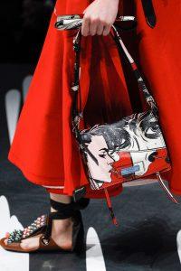 Prada Red/Black/White Printed Etiquette Shoulder Bag - Spring 2018