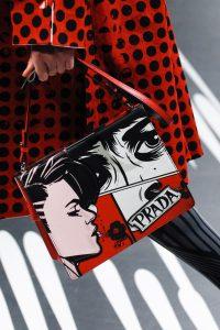 Prada Red/Black/White Printed Light Frame Shoulder Bag - Spring 2018