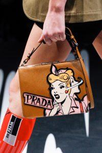 Prada Tan/Pink Light Frame Shoulder Bag 2 - Spring 2018