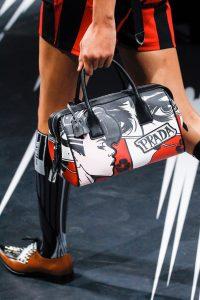Prada White/Black/Red Printed Duffle Bag - Spring 2018