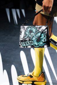 Prada White/Turquoise/Black Printed Light Frame Shoulder Bag - Spring 2018