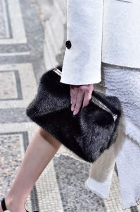 Proenza Schouler Black Fur Clutch Bag - Spring 2018