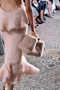 Proenza Schouler Light Pink Fur Clutch Bag - Spring 2018
