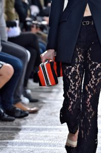 Proenza Schouler Red/Black Striped Clutch Bag - Spring 2018