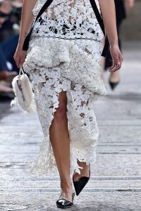 Proenza Schouler White Fur with Feather Minaudiere Bag - Spring 2018