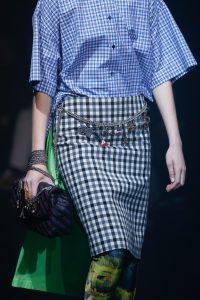 Balenciaga Black/Blue Monogram Flap Bag - Spring 2018