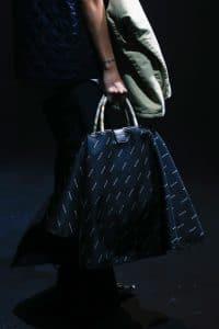 Balenciaga Black/White Monogram Top Handle Bag 2 - Spring 2018