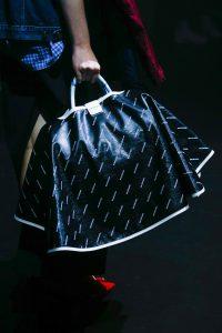 Balenciaga Black/White Monogram Top Handle Bag - Spring 2018