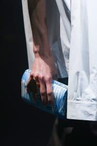 Balenciaga Blue Euro Print Clutch Bag - Spring 2018