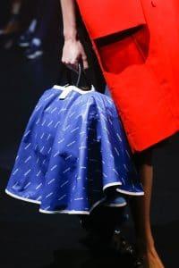 Balenciaga Blue/White Monogram Top Handle Bag - Spring 2018
