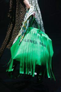 Balenciaga Green Fringed Tote Bag 2 - Spring 2018
