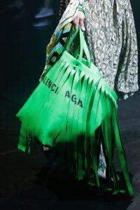 Balenciaga Green Fringed Tote Bag - Spring 2018