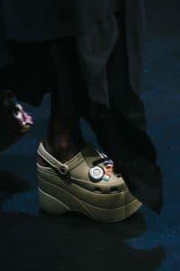 Balenciaga Khaki Platform Crocs - Spring 2018
