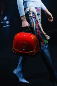 Balenciaga Red/Black Hard Case Bag - Spring 2018