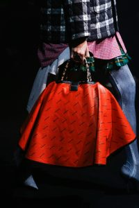 Balenciaga Red/Black Monogram Top Handle Bag - Spring 2018