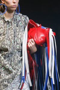 Balenciaga Red/White/Blue Fringed Clutch Bag - Spring 2018