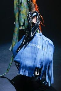 Balenciaga Sky Blue Fringed Tote Bag - Spring 2018
