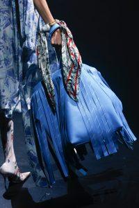 Balenciaga Sky Blue Monogram Fringed Tote Bag 2 - Spring 2018