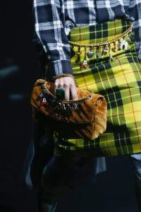 Balenciaga Tan Velvet Monogram Flap Bag - Spring 2018