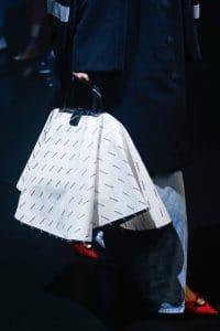 Balenciaga White/Black Monogram Top Handle Bag - Spring 2018