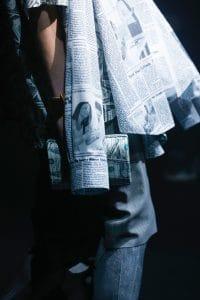 Balenciaga White/Gray Dollar Print Clutch Bag 2 - Spring 2018