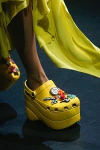 Balenciaga Yellow Platform Crocs 2 - Spring 2018