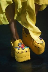 Balenciaga Yellow Platform Crocs - Spring 2018