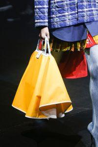 Balenciaga Yellow/White Top Handle Bag - Spring 2018
