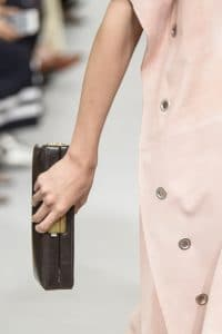 Celine Brown Boxy Clutch Bag - Spring 2018