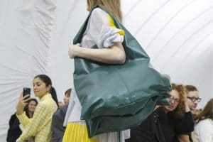 Celine Dark Green Tote Bag 3 - Spring 2018
