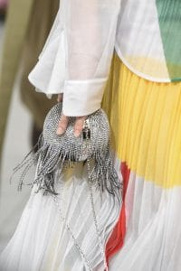 Celine Silver Embellished Minaudiere Bag - Spring 2018