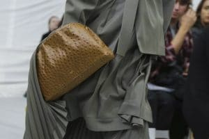 Celine Tan Ostrich Clutch Bag 2 - Spring 2018