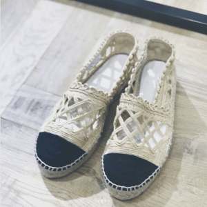 Chanel Black/Beige Espadrilles