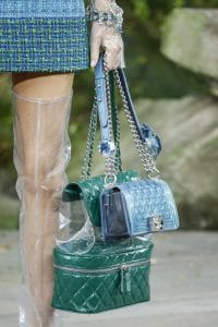 Chanel Green Tote and Blue Boy Bag - Spring 2018