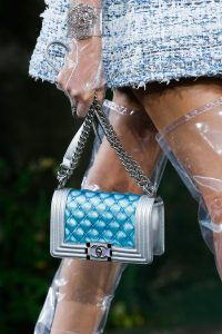 Chanel Silver/Blue Boy Bag 2 - Spring 2018
