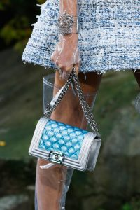 Chanel Silver/Blue Boy Bag - Spring 2018