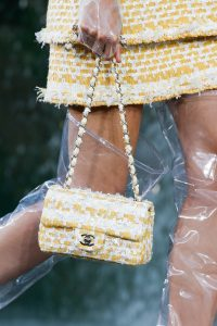 Chanel Yellow Tweed Classic Flap Bag 2 - Spring 2018