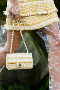 Chanel Yellow Tweed Classic Flap Bag - Spring 2018